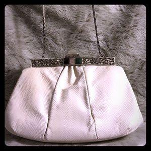 Vintage Judith Leiber White Lizard Skin Bag